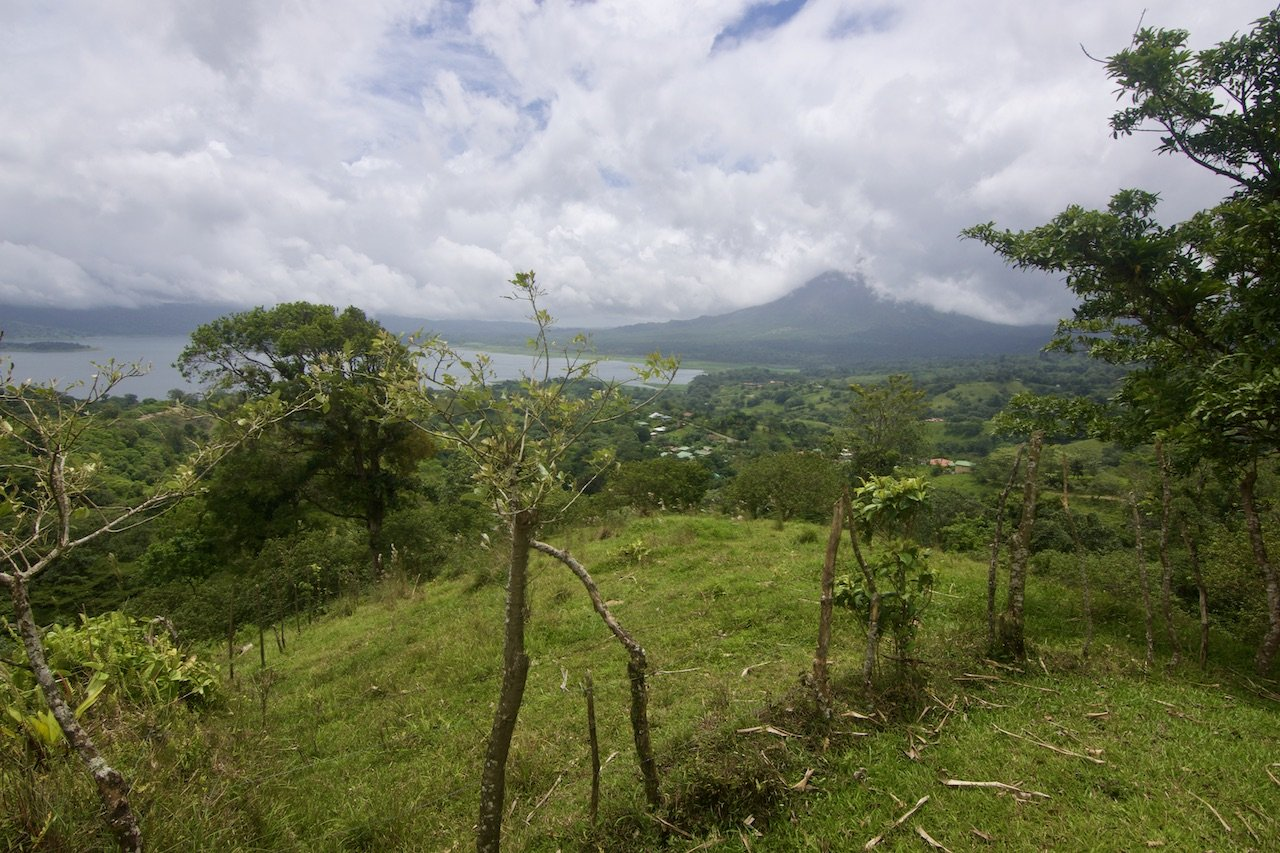 47 Acres of farm land and forest with the best Lake & Volcano Views.